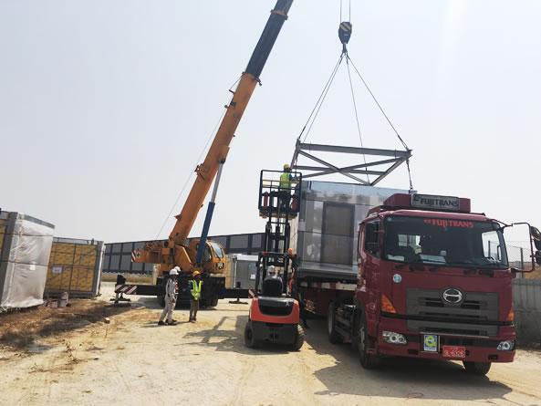 Transportation & Installation of Plant equipment